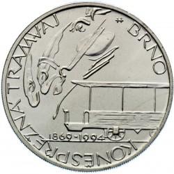 200 Kč 125. výročí zahájení provozu první konězpřežné městské železnice v Brně - BK (1994)