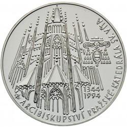 200 Kč 650. výročí založení praž. arcibiskupství a položení základního kamene ke Katedrále sv. Víta - PROOF (1994)