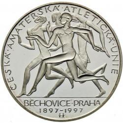 200 Kč 100. výročí založení České amaterské atletické unie a konání nejstaršího běhu Běchovice-Praha - PROOF (1997)