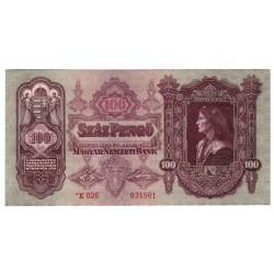 MAĎARSKO - 100 Pengö 1930, série *E026