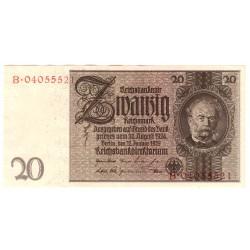 NĚMECKO - 20 Reichsmark 1929