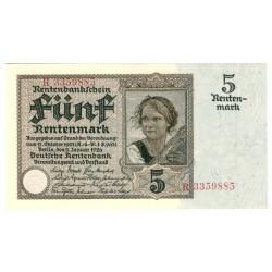 NĚMECKO - 5 Rentenmark 1926