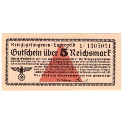 NĚMECKO - Gutschien über 5 Kriegsgefangenenlager 1939-1945