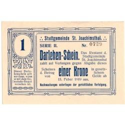 Politická platidla ST. JOACHIMSTAL (Jáchymov) -  Lot 7 ks - 1, 2, 5, 10, 20, 100, 500 kronen. 16.2.1919