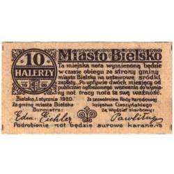Politická platidla BIELITZ (Bielsko-Polsko) - Lot 2 ks - 10 a 25 halerzy, 1.1.1920 (bez sér. i č.)