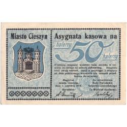 Politická platidla TESCHEN (Těšín-Cieszyn) - Lot 6 ks - 2x 50 heller a 4x 1 korona