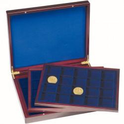 Luxusná drevená kazeta na mince s 3 rovnakými plátami