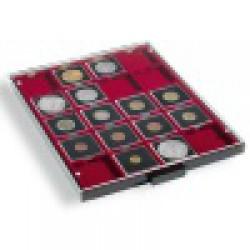 Box na mince, červené polstrovanie