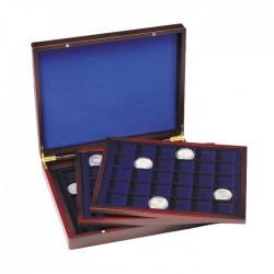Luxusná drevená kazeta na mince s 3 plátami