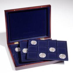 Drevená kazeta na mince s 3 rovnakými plátami
