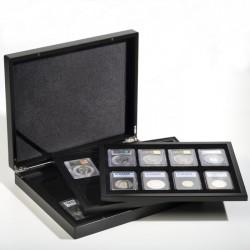 Drevená kazeta VOLTERA TRIO na mince v kapsuli SLAB