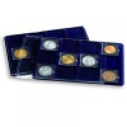 Modré prezentačné L plató s ochranným krytom