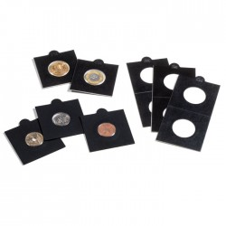 Papierové obaly MATRIX na mince od Ø 17,5 mm do 39,5 mm samolepiace, čierne