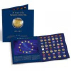 """Album na mince PRESSO pre 23 ks 2-Eurových pamätných mincí """"30 rokov EU vlajky"""""""
