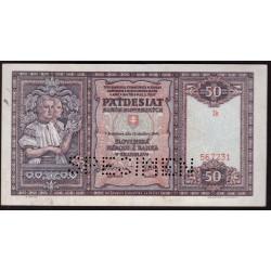 50 Ks 1940 SPECIMEN