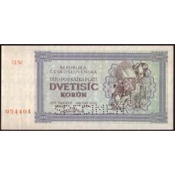 2000 Kčs 1945 - SPECIMEN