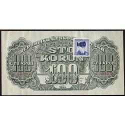 Lot 3 ks - 100, 500 a 1000 Korun 1944 SPECIMEN (s kolkem)