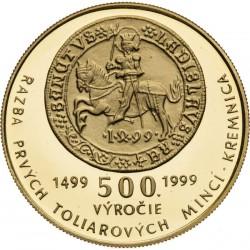 Razba prvých toliarových mincí v Kremnici (1999)