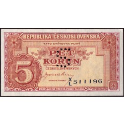 "Lot 2 ks - 5 Kčs 1949 a 10 Kčs 1950 - perforace ""S"""