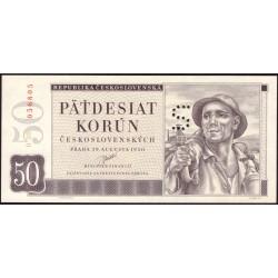 "50 Kčs 1950 - perforace ""S"""