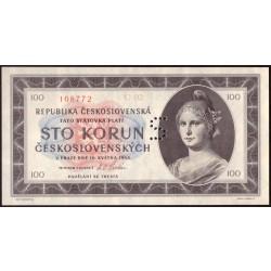 "100 Kčs 1945 - perforace ""S"""