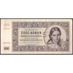 "1000 Kčs 1945 - perforace ""S"""