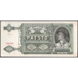500 Ks 1941 SPECIMEN