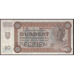 20 Ks 1942 SPECIMEN
