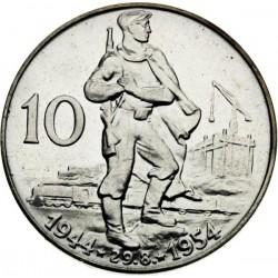 Desiate výročie SNP - 10 Kčs (1954) - Proof
