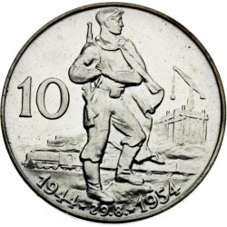 Desiate výročie SNP - 10 Kčs (1954) - BK
