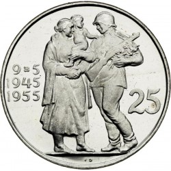 Desiate výročie oslobodenia Československa - 25 Kčs (1955) - Proof