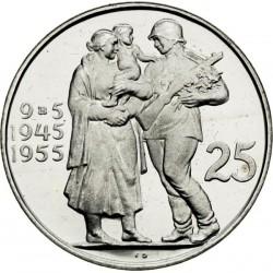 Desiate výročie oslobodenia Československa - 25 Kčs (1955) - BK