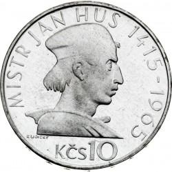 550. výročie upálenia Jána Husa - 10 Kčs (1965) - BK