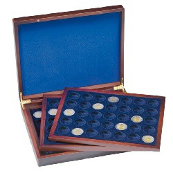 Drevená kazeta VOLTERA TRIO na 2 Euro mince v kapsuli