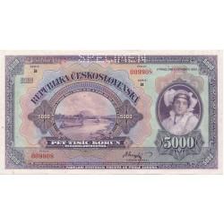 5000 Kč 1920 SPECIMEN