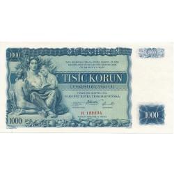 1000 Kč 1934 SPECIMEN číslo 122234