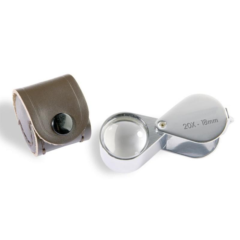 Vrecková lupa s kvalitným spracovaním (20 x)