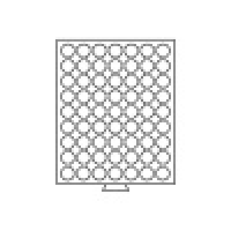 Box na mince Ø 21,5 až 23 mm, červené polstrovanie