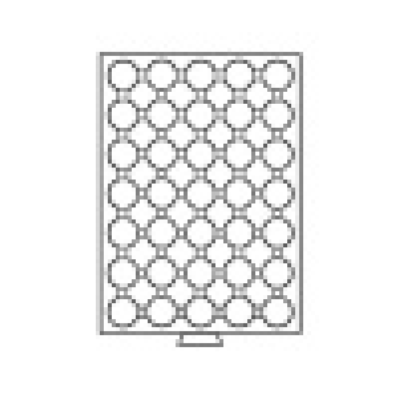 Box na mince Ø 31 až 33 mm, červené polstrovanie